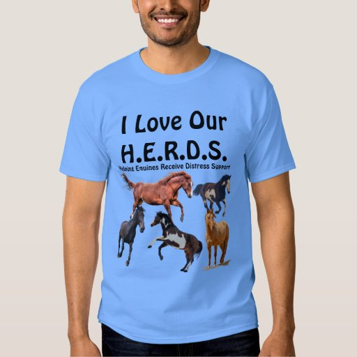 Horse rescue herds charity fundraiser t shirt zazzle for Charity printed t shirt