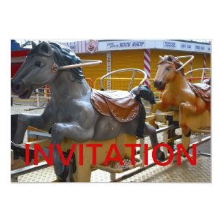 Horse Ride at a Funfair Happy Invitation
