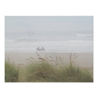Horse Ride On The Beach Poster