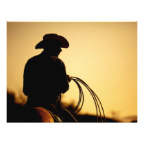 Horse Rider and Rope into the Sunset Flyer