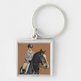 Horse & Rider at Horseshow Keychain