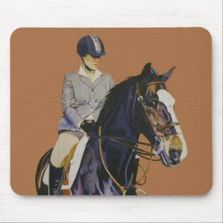 Horse & Rider at Horseshow Mouse Pad