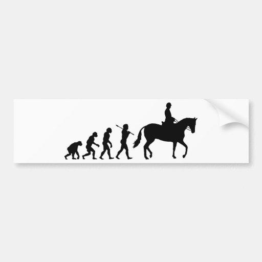Horse Rider Bumper Stickers