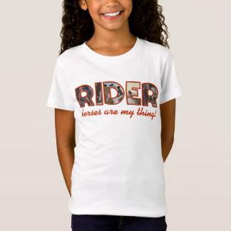 Horse rider (English style), editable T-Shirt