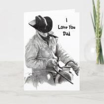 HORSE RIDER, ILove YouDad Card