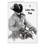HORSE RIDER, ILove YouDad Greeting Cards
