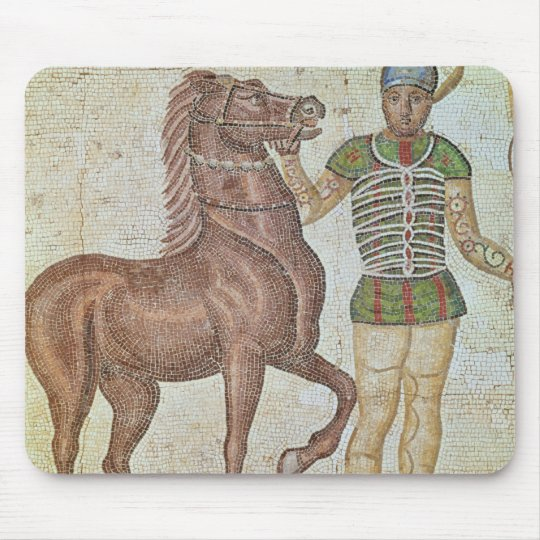 Horse rider in racing colours mouse pad
