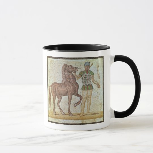 Horse rider in racing colours mug