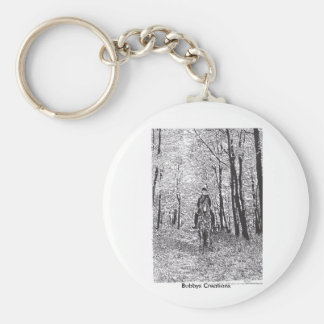 Horse & Rider in the Woods Keychain