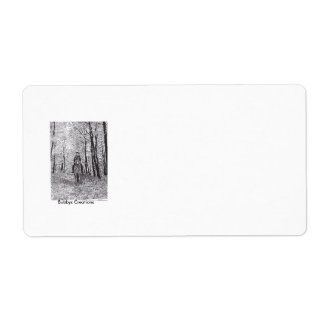 Horse & Rider in the Woods Custom Shipping Label