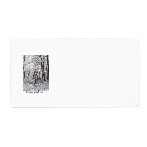 Horse & Rider in the Woods Shipping Label