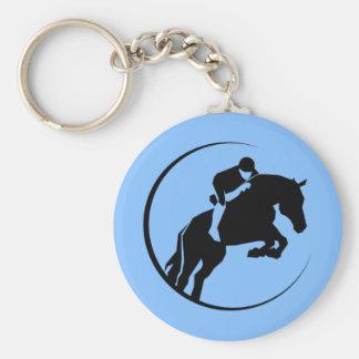 Horse rider keychain