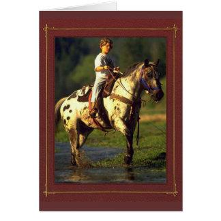 Horse Rider NoteCards Greeting Card