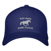 Horse rider or stable owners embroidered baseball hat