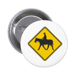 Horse Rider Pinback Button