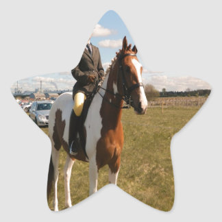 horse rider ready for the challenges star sticker