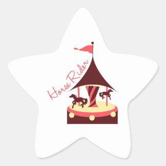 Horse Rider Star Sticker