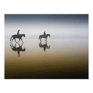 Horse riders at the beach flyer