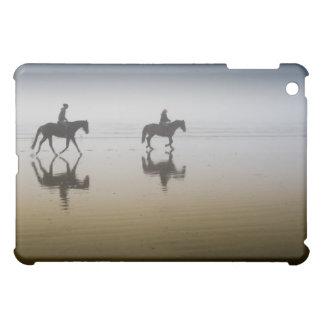 Horse riders at the beach iPad mini cover
