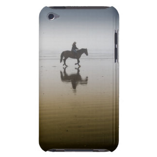 Horse riders at the beach iPod touch case