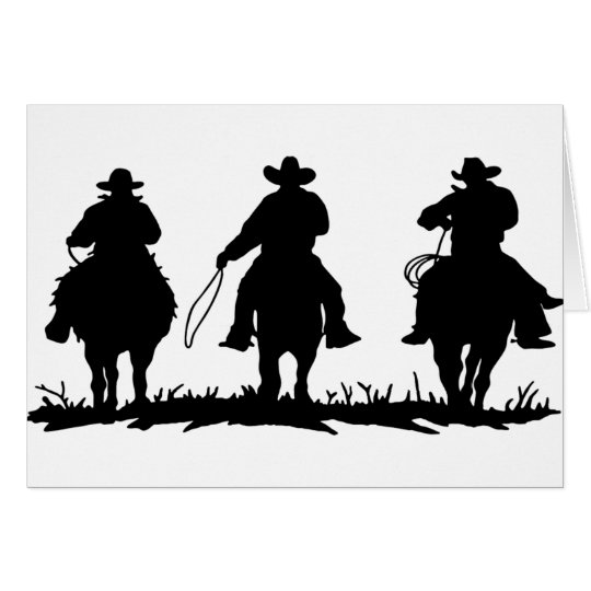 horse riders card