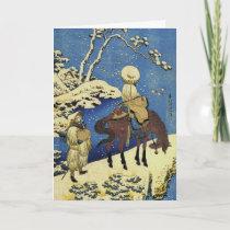 Horse Riders Japanese Holiday Card
