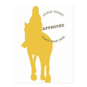 Beach Themed Horse Riding Approved Postcard