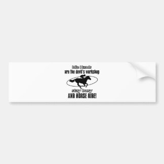 HORSE RIDING awesome gift items Bumper Sticker