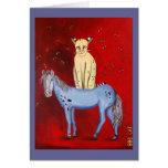 Horse Riding Bob Card