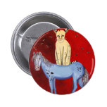 Horse Riding Bob Pinback Buttons