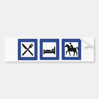 horse riding bumper sticker