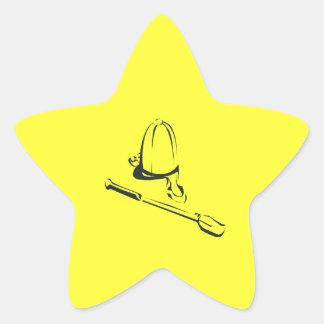 Horse Riding Cap Star Sticker