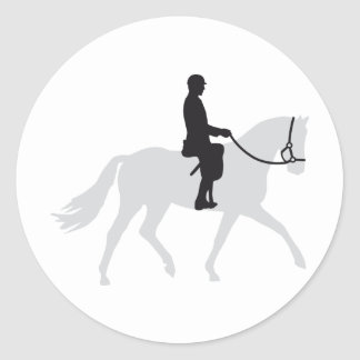 horse riding classic round sticker