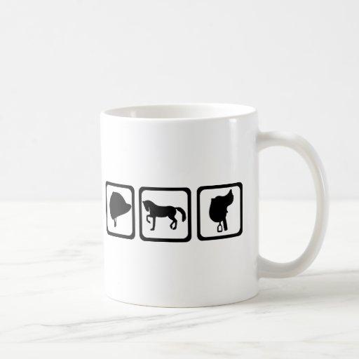 Horse - riding coffee mugs