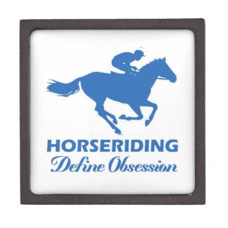 horse-riding design premium keepsake boxes