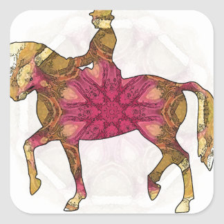 Horse riding - Dressage 02.jpg Square Sticker