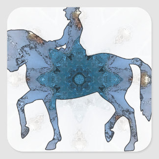 Horse riding - Dressage 05.jpg Square Sticker
