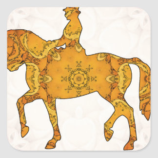 Horse riding - Dressage 06.jpg Square Sticker