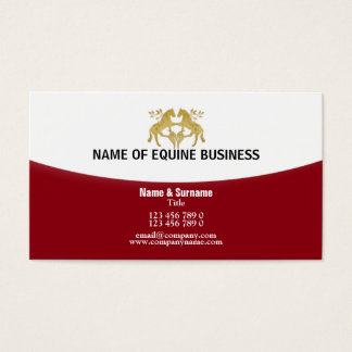 Horse riding equestrian equine business business card