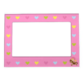Horse Riding Hearts Magnetic Picture Frame