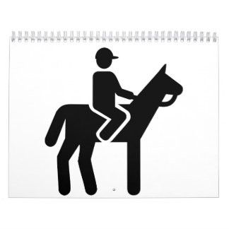Horse riding icon calendar