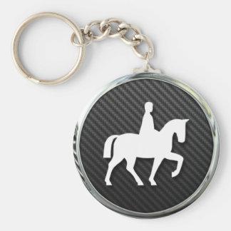 Horse Riding Icon Keychain