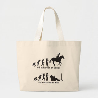 Horse Riding Large Tote Bag