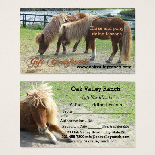 horse riding lessons gift certificate template. Black Bedroom Furniture Sets. Home Design Ideas