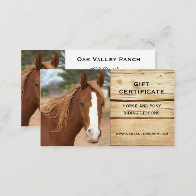 Horse riding lessons gift certificate template zazzle yadclub Gallery