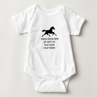 Horse Riding Mom Funny Mothers Day Gifts Baby Bodysuit