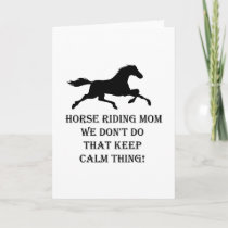 Horse Riding Mom Funny Mothers Day Gifts Card