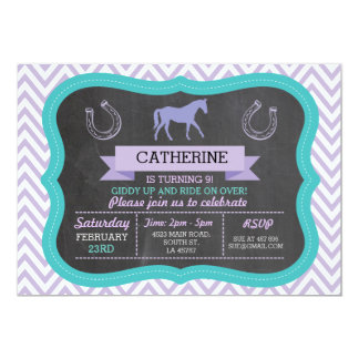 Horse Riding Party Invite Pony Invitation Invite