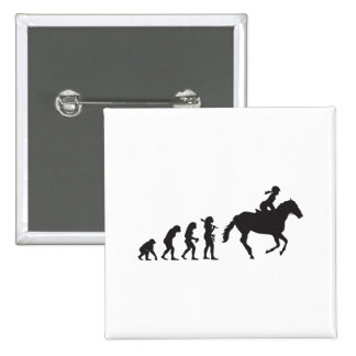 Horse Riding Pinback Button