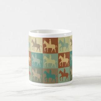Horse Riding Pop Art Classic White Coffee Mug